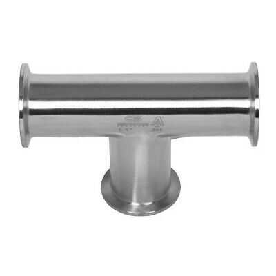 "3-Way Sanitary Stainless Steel Equal Tee Tri-Clamp 3"" 304"