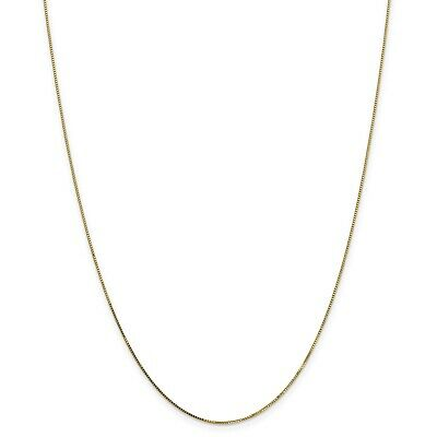 14k Yellow 20in Gold Fancy .7mm Box Necklace Chain