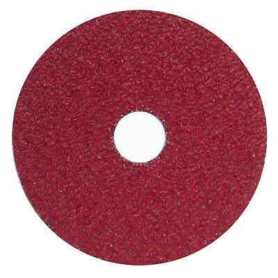 "25 Ceramic Lite 4-1//2/"" X 7//8/"" 60 Grit Resin Fiber Sanding Discs 99362 USA MADE"
