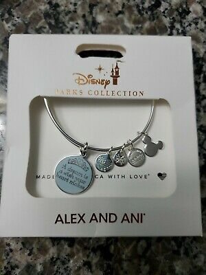 Disney Parks ALEX & ANI bracelet A DREAM IS A WISH YOUR HEART MAKES Cinderella