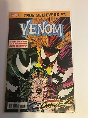 True Believers Absolute Carnage | Venom Separation Anxiety #1 (Marvel, 2019) NM