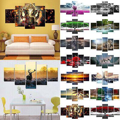 5Pcs Set Unframed Modern Animal Art Deco Painting Picture Print Wall Home Decor