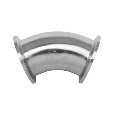"""TRI-CLAMP 3//4/"""" SANITARY ELBOW 90° ELL 316L STAINLESS STEEL 2CMP"""