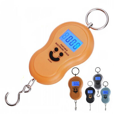Pocket LCD Digital Fish Hanging Luggage Weight Hook Portable Scale 50kg