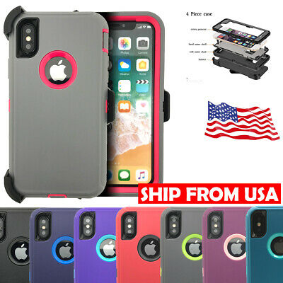 Defender Shockproof Heavy Duty Non Slip Belt Clip Case For iPhone X/XS/XR/Xs Max