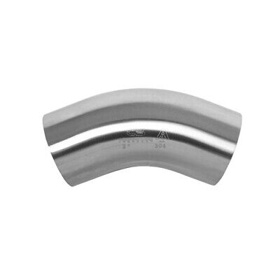 "45 Degree Sanitary Stainless Steel Long Bend Weld Fitting 1.5"" 304"