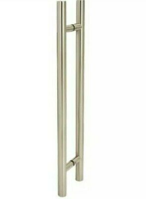 & Altro Back to Back Large Door Pull Handle Pair T-Bar Stainless Steel 49:21