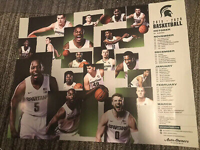 2019 20 Michigan State Spartans Mens Basketball Schedule