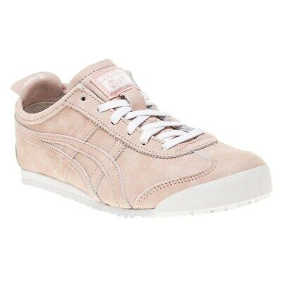 New Womens Onitsuka Tiger Pink Mexico 66 Nubuck Trainers Court Lace Up