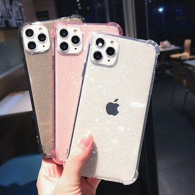 Glitter Shockproof Transparent Case Cover For iPhone 11 Pro Max XR XS X 8 7 6S