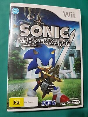 Sonic and the Black Knight - nintendo wii game - complete - vgc - aus pal