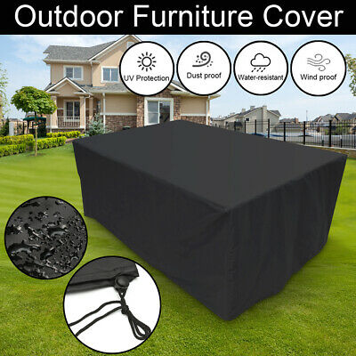Waterproof Garden Patio Furniture Cover For Rattan Table Cube Seat Outdoor UK