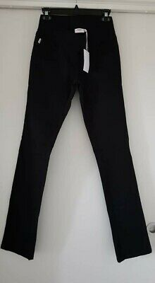 BNWT SOON black maternity straight leg denim jeans sz 6
