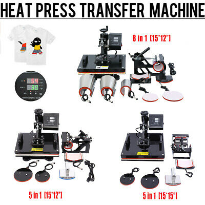 "Ridgeyard 15x15""/15x12"" Heat Press Machine Transfer Sublimation T-Shirt Mug Cup"