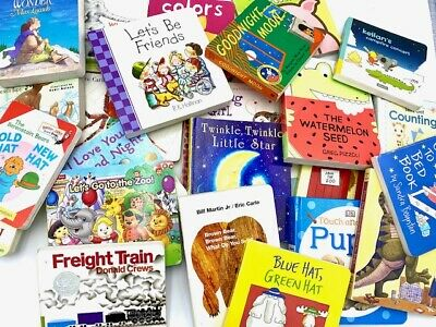 Lot of 20 Random Children Board Books for Toddlers Bedtime Stories Fun