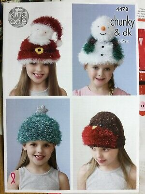 King Cole 9106 Knitting Pattern Christmas Star Decorations in Tinsel Chunky