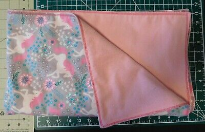 """Homemade Snuggle Flannel Homemade Reversible Baby Blanket-42"""" by 35"""""""
