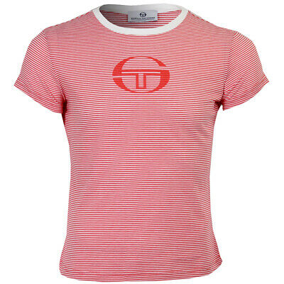 Ladies Sergio Tacchini Red/White Amanda Style T-Shirt Sizes 14-16 66% Off