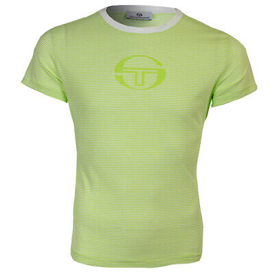 Ladies Sergio Tacchini Green/White Amanda Style T-Shirt Sizes 12-18 66% Off