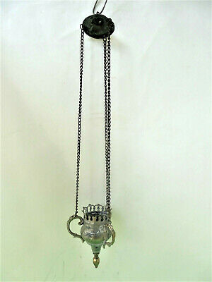 Authentic Hanging Bronze Oil Candle holder Orthodox Byzantine VC2D
