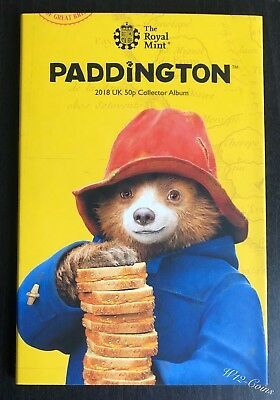 Paddington Bear 2018 Royal Mint Album New No Coins