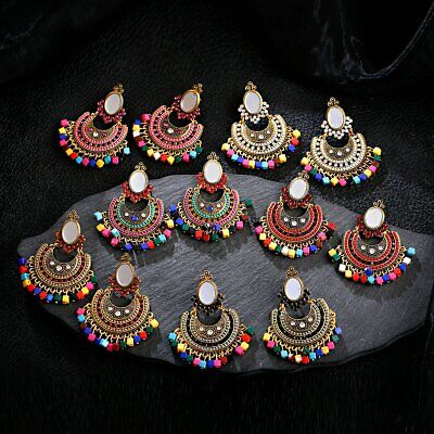 Vintage Women Bohemia Jhumka Indian Bollywood Ethnic Drop Earrings Gypsy Jewelry