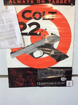 Colt's 22 Single Action Pistol Poster  1994 Poster/ Letter From Company