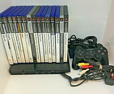 Sony PlayStation 2 PS2 Gaming Console Bundle With 15 Games #2