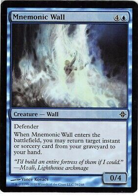 Mnemonic Wall FOIL Iconic Masters NM-M Blue Common MAGIC GATHERING CARD ABUGames