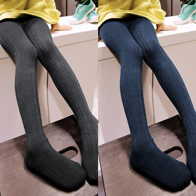 Toddler Pantyhose Stocking Kids Girls Cotton Tights Knitted Thick Soft Solid