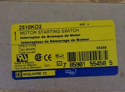 Square D Schneider Electric 2510KO2 Motor Starting Switch 30A 600V 3 Pole