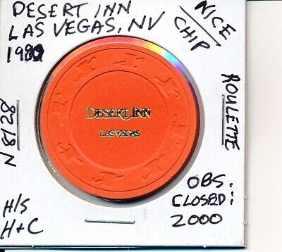 Casino Chip-Desert Inn Las Vegas Nv 1980 H/S H&C # N8128 Roulette Closed 2000