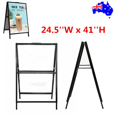 Portable Double Sided A Frame Sidewalk Sign Advertising Poster Display Board OZ