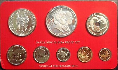 Papua New Guinea PNG 1982 Proof Coin Set Royal Visit , Kokoda Trail Silver Coins