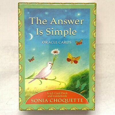 The Answer Is Simple Oracle Cards A 62-Card Desk and Guidebook Sonia Choquette