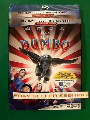 Dumbo (Blu-ray + DVD + Digital (2019) W/Slipcover Brand New Sealed Free Shipping