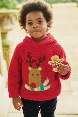 BNWT - Next Boys/Girls CHRISTMAS JUMPER Fleece Reindeer 9-12 Months