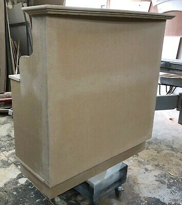Unpainted MDF Salon Reception Desk - other sizes available