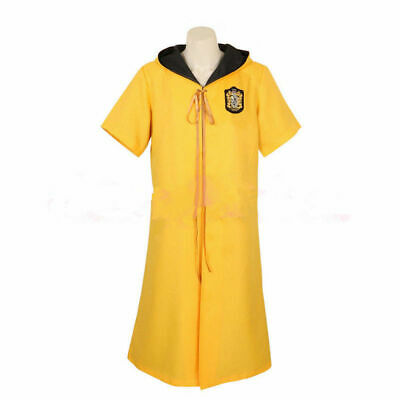 Harry Potter Quidditch robes Hufflepuff yellow color Cape Costume Cosplay