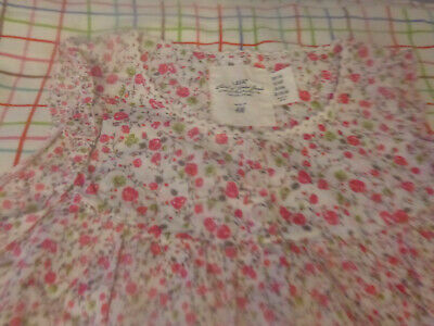 H&M KIDS GIRLS 8/9 Y PINK/ WHITE FLOWERS Top Blouse Shirt LOOSE FIT TUNIC