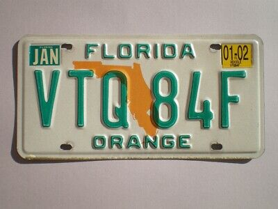 Authentic 2002 Florida License Plate