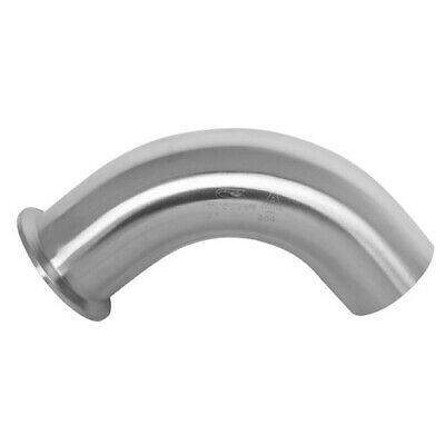 "90 Degree Sanitary Stainless Steel Elbow Clamp Weld Bend Fitting 4"" 304"