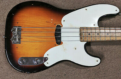 1956 Fender Precision Bass, Sunburst, Single Coil PU, String Thru Body, Player!