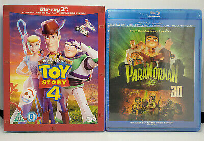 Toy Story 4 3D (Region-Free Blu-ray+Slip Cover) ParaNorman 3D BR+DVD+Digital