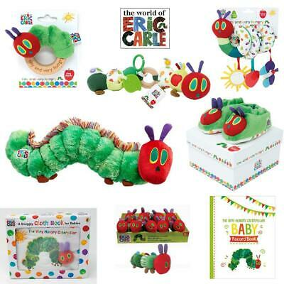 Very Hungry Caterpillar Rattle Spiral Beanie Toy Booties Wooden Teether Activity
