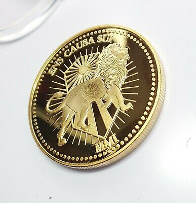 John Wick Gold Marker Prop Coin Cosplay 999 AU PLATED Movie Currency