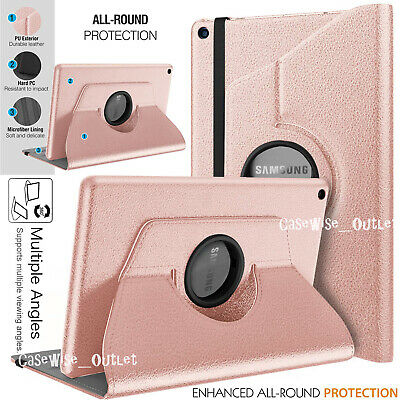 """For Samsung Galaxy Tab A 10.1"""" 2019 T510 T515 Rotating Leather Stand Case Cover"""