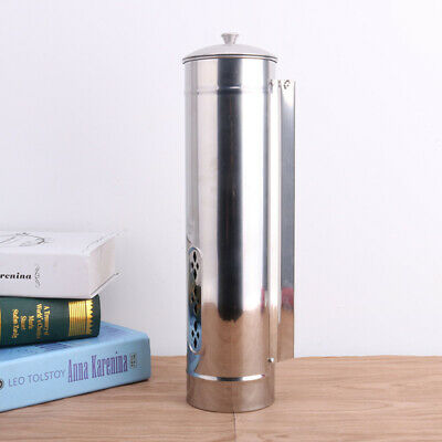 Cup Dispenser Stand Coffee Drink Organizer Automatic Stainless Steel Holder