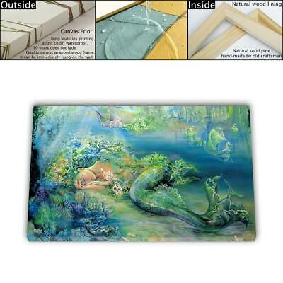 "16""x26"" Mermaid Series Painting HD Canvas prints Framed Home decor Room Wall art"