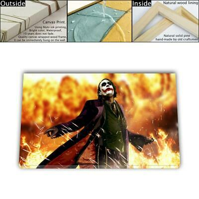 "16""x26"" DC Batman Joker Paints HD Canvas print Framed Home decor Wall art Poster"